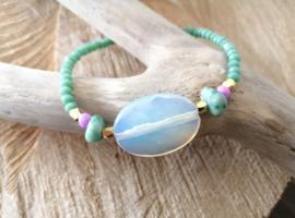 White Opal Sea Green