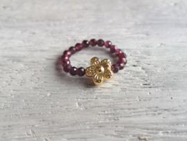 Garnet Flower Gold