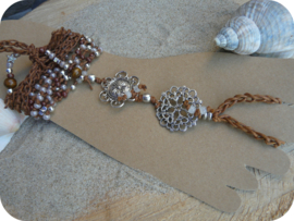 Barefoot Sandals Brown and Silver