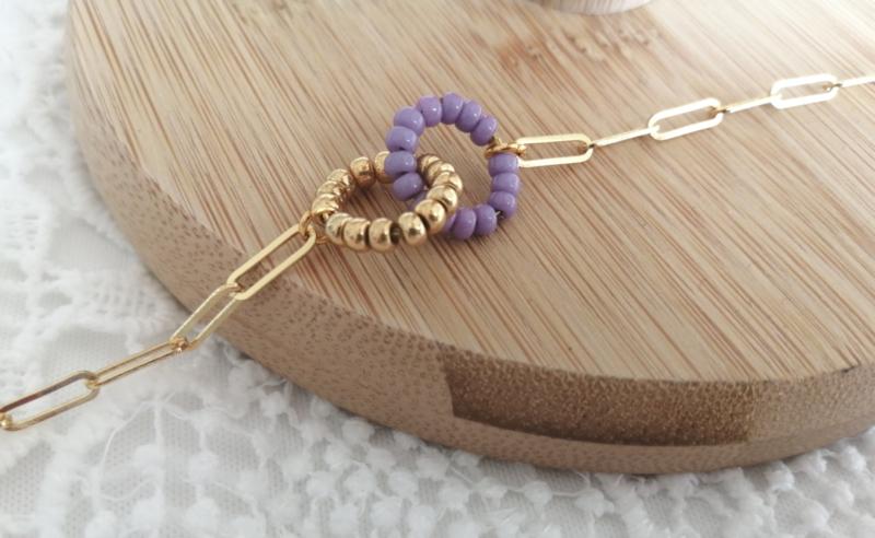 Circles Gold and Lilac