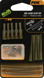 Fox Zig Lead Clip Kit Size 7