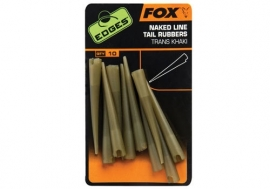 Fox Nakes Line Tail Rubbers Trans Khaki