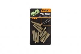 Fox Slik Lead Clip Tail Rubbers Size 10 Trans Khaki C