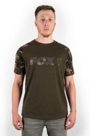 Fox Camo/Khaki Chest Print T-Shirt