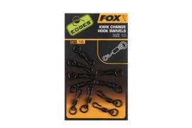 Fox Kwik Change Hook Swivels Size 10