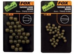 Fox Tapered Bore Beads Trans Khaki