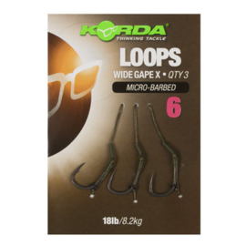 Korda Loop Rigs DF Wide Gape X