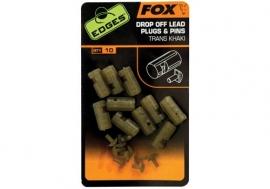 Fox Drop Off Lead Plug And Pins x10 Trans Khaki