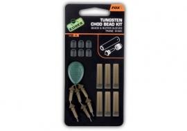 Fox Tungsten Chod Bead Kit x6 Trans Khaki