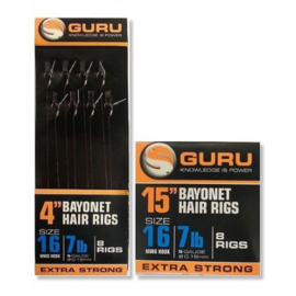 "Guru Tackle Bayonet Hair Rigs 4"" & 15"""