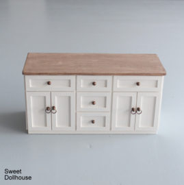 Dresser farmhouse style white - pickled wood
