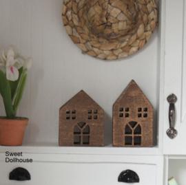 Decoratie huisjes brons