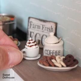 Kopje koffie wit