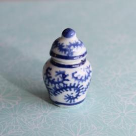 Gemberpot blauw-wit