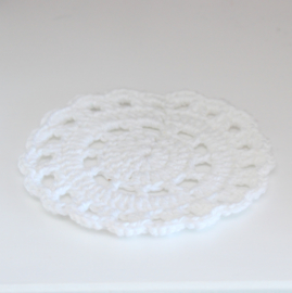 Crocheted doily white