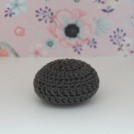 Crocheted pouf dark grey
