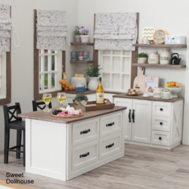 Kitchen island farmhouse style (available in different colors)