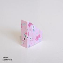 Magazine cassette flowers light pink
