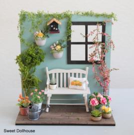 Decoratie hoekje tuin
