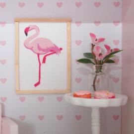 Poster dollhouse flamingo