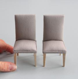 Eetkamer stoelen taupe (2 stuks)