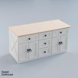 Landelijk dressoir wit - blank hout