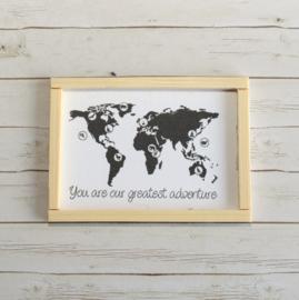 Poster dollhouse wereldkaart