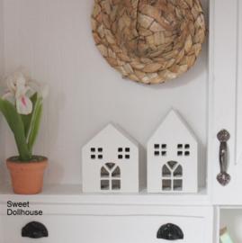 Decoratie huisjes wit