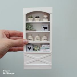 Boekenkast landelijk wit