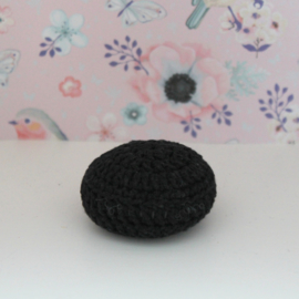Crocheted pouf black