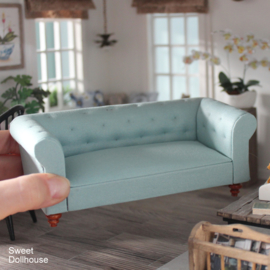 Chesterfield sofa light turquoise