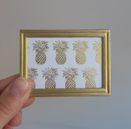 Poster dollhouse Ananas goud