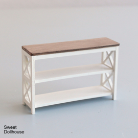 Sidetable small  farmhouse style white - pickled wood