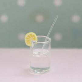 Glaasje water met citroentje