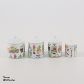 Canisters gardening (4 pcs)