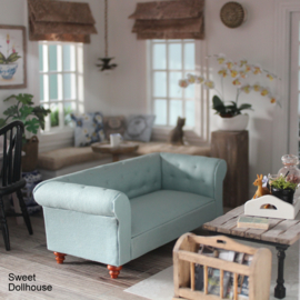 Chesterfield bank licht turquoise