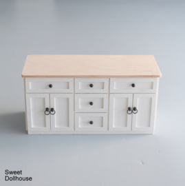 Dresser farmhouse style white - plain wood