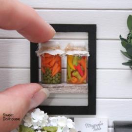 Setje potjes pepertjes en doperwten/worteltjes