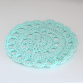 Crocheted doily mint