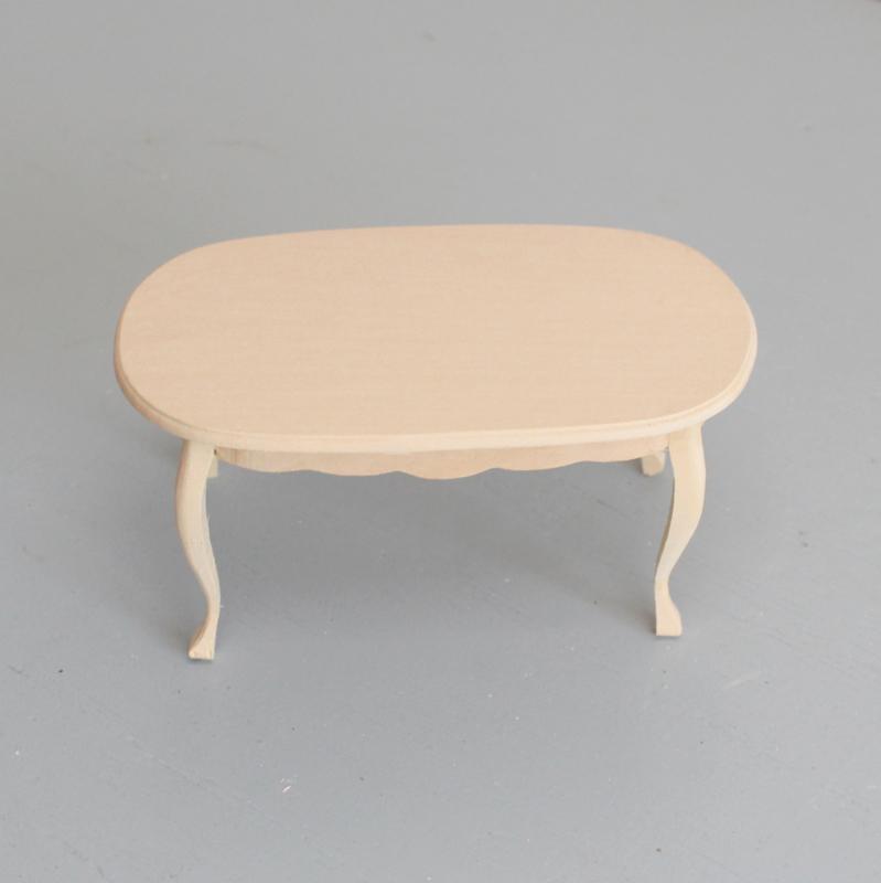 Eettafel blank hout ovaal