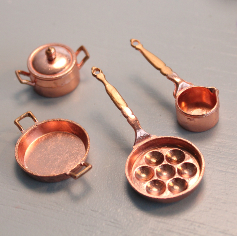 Copper pans 4pcs