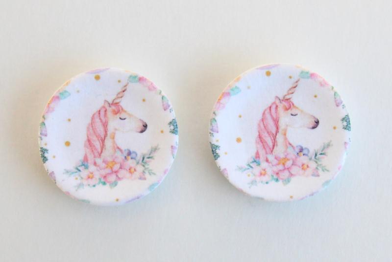 Bordjes Unicorn (2 stuks)