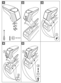 Armsteun Skoda Yeti 2009-2017  /  Armster 2 METAL GREY