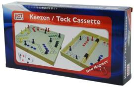 Spel Keezen 2 en 4 persoons in cassette 30 cm