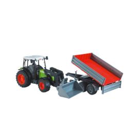 Bruder Tractor Claas Nextis 267F met aanhanger