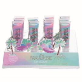 Casuelle Lipgloss met Hanger Paradise Blauw met Roze