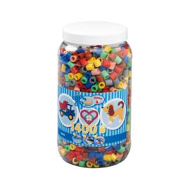 Maxi Strijkkralen Pot Hama Mix 1400 STUKS
