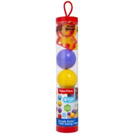 Klei 4 ballen in koker met vormen