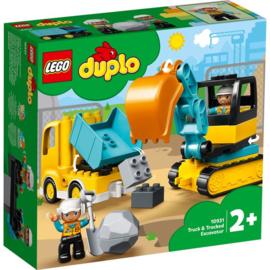 Duplo 10931 Truck&Graafmachine met Rupsbanden