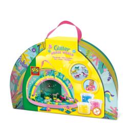 SES Klei Glitter Paarden Wereld Speelkoffer